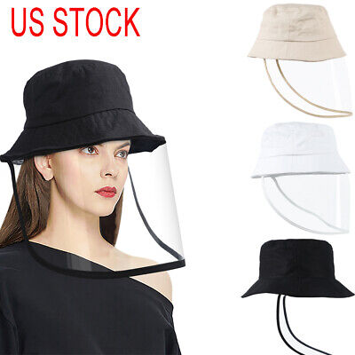 US STOCK Anti Saliva Protective Fisherman Hat Cap Full Face Shield Cover Safety