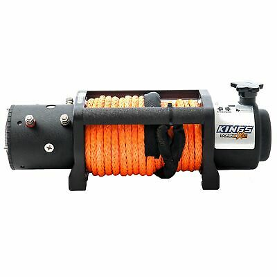4WD Electric Rope Winch Wired Remote Kings 12000lb Domin8rX 4X4