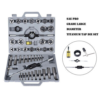 VCT 45 pc Tap and Die Set SAE Tungsten Steel Titanium tools Jumbo Tap /& Die