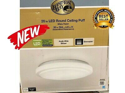 LED Bright White Housing Plate for Hampton Bay 20 LED Round Ceiling Puff