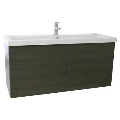 ACF ANS339 New Space Bathroom Vanity with Fitted Ceramic Sink Wall Mounted 23 Larch Canapa