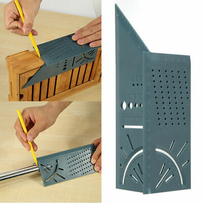 3D Mitre Angle Measuring Square Size Measure Tool With Gauge & Ruler Woodworking