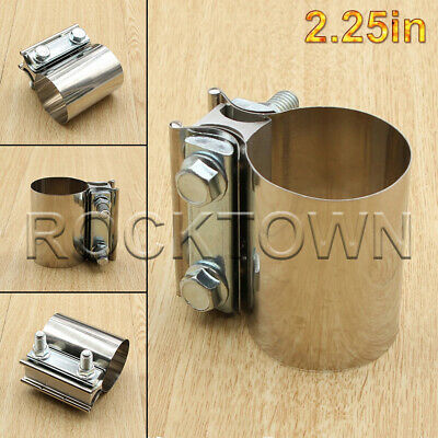 "55mm  2.16/""  Diameter Exhaust Pipe Connector Clamp-On Sleeve Adapter Joiner"