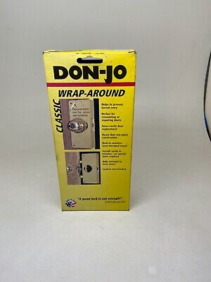 Pack of 10 Don-Jo 7-VF Flat Front Wrap-Around Plate Blackened Satin Brass Plated