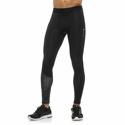 Reebok Herren Combat Ankle Lock Tights Leggings, Blau