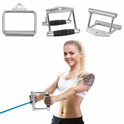 2X Pulldown Tricep Rope Cable Handle stand 70KG V Bar Dip Resistance Multi-GymJC
