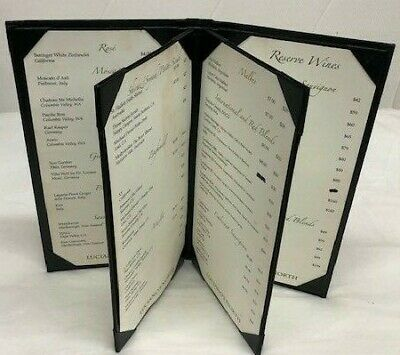 1 Menu Holder Cover Four fold Panel  11.6×6.25 inch/Classic style free shipping