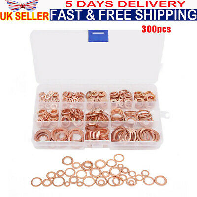 Seal Flat *Top Quality! Pack of 5 Bango 21mm x 27mm x 2mm Copper washers