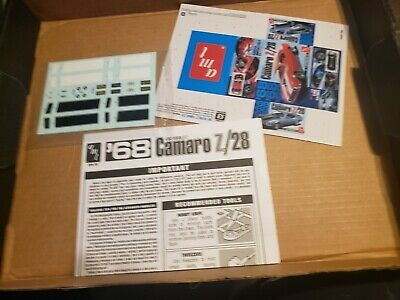 Instructions and Mini-Box 1//25 Scale AMT 1955 Corvette Roadster Decals
