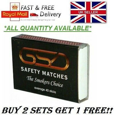 Gsd Safety Matches Bbq Camping Candles Fireworks Cooking *Buy 2 Get 1 Free* Uk