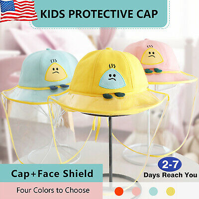 Unisex Kids Protective Cap Anti-spitting Cover Outdoor Fisherman Hat WindProof