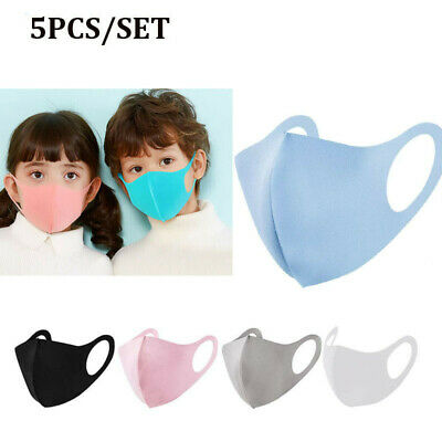 5pcs/Pack Kids Sponge Face Cover Breathable Washable Shield Outdoor Cycling