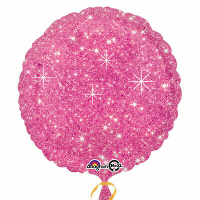 Faux Sparkle Hot Pink Foil Balloon - Birthday Valentines Party Decoration 32330