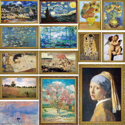 1000 pieces Jigsaw Famous Paintings Puzzle Adult Decompression Game Toy 70*50cm