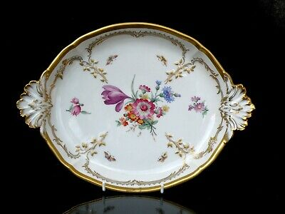 Kpm Antique Tray Fabulous Hand Painted Decor and Gildings