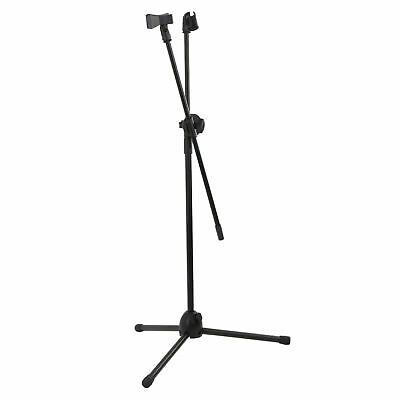 Professional Boom Microphone Mic Tripod Stand Holder Adjustable With Free Clips