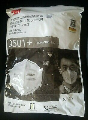 3M Particle Respirator  9501+ (50 Pack)