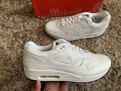 NIKE AIR MAX 1 Premium SC Jewel Swoosh Triple White Diamond