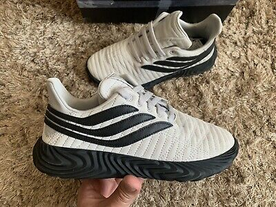 MENS ADIDAS SOBAKOV Trainers In Off White Core Black Raw