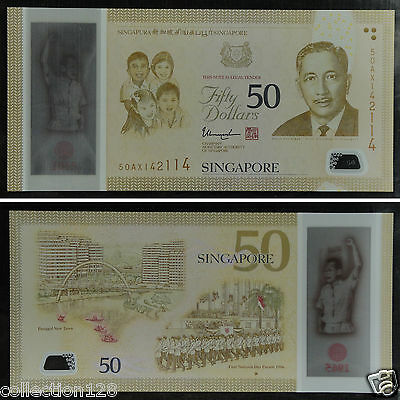 50 Dollars Polymer P-61 Singapore UNC />  Commemorative 2015