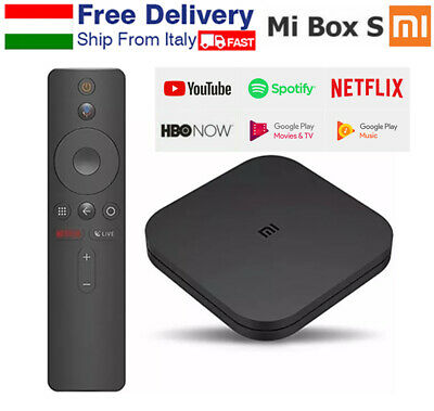 Xiaomi Mi Box S 4K HDR TV Streaming Media Player Google Assistant Android Global