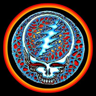 "4"" Grateful Dead Quicksiver Ember vinyl sticker. Steal Your Face decal for car."