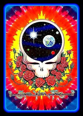 "4.5"" Grateful Dead Space Your Face vinyl sticker. Hippie tie dye decal for car."