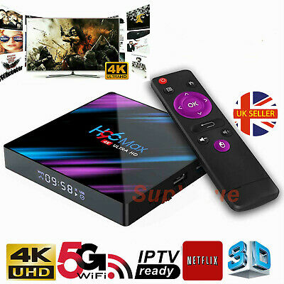 H96 Max Android 9.0 Smart TV Box 4GB+32GB HD Media Player 4K 2.4G/5GHz WIFI PD