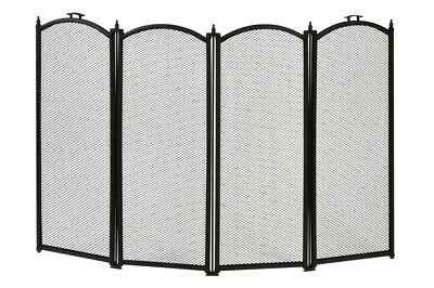 Hearth and Home Folding Fire Guard Black 4 Sections