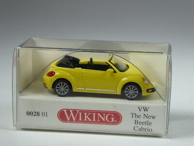 NEUWARE! H0, 1:87 WIKING 002801// 0028 01 VW The New Beetle Cabrio gelb