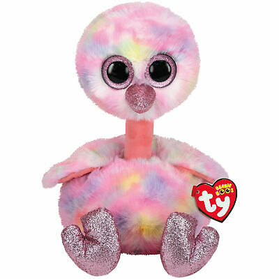Ty Beanie Boos ~ AVERY the Multi Color Ostrich 2019 NEW ~ IN HAND 6-8 Inch