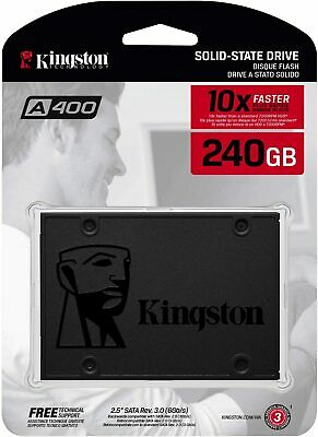 Kingston A400 240GB 2.5 SATA III SSD - Replacement for Increase Performance New