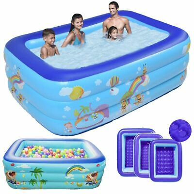 Large Kid Family Swimming Pool Garden Outdoor Summer Inflatable Paddling Pools