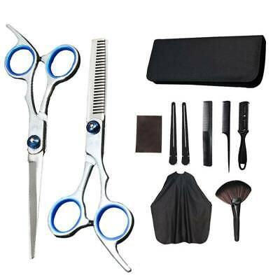 11Pcs Hair Cutting Set Thinning Scissors Shears Salon Barber Hairdressing Tools