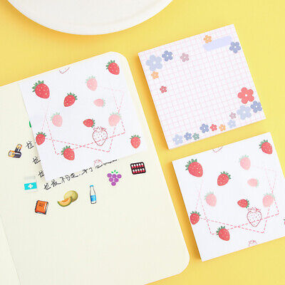 Pastel Sticky Notes Colourful Removable Bookmark Memo Notepad KS