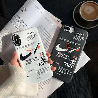 Coque Off White X Nike pour Apple iPhone 6s 7 8 Plus XS 11 Pro Max XR Housse