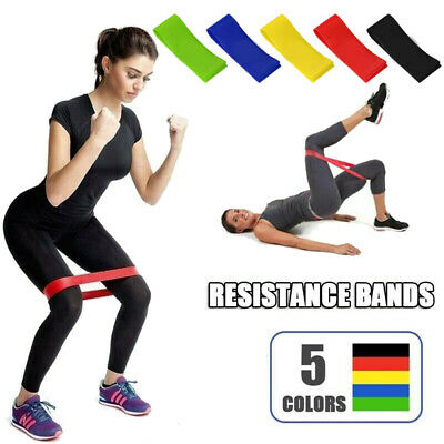 Resistance Bands Loop Kit Weights Home Fitness Latex Gym Workout Set|NHS|Physio