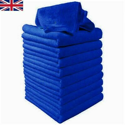 100 x LARGE MICROFIBRE CLEANING AUTO CAR DETAILING SOFT CLOTHS WASH TOWEL DUSTER