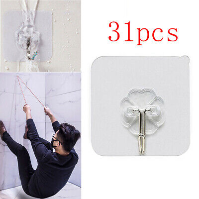 1PC Strong Transparent Suction Cup Sucker Wall Hooks S4Q0 Hanger Kitchen L6F0