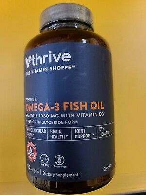 The Vitamin Shoppe, 120 Soft Gels OMEGA 3 Fish Oil, EPA/dha 1060 mg exp 08/21