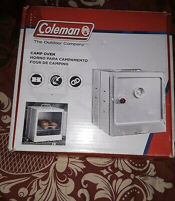 BAKE~BBQ  WITH CONFIDENCE@CAMP~US SLR~FREE SHIP NEW~COLEMAN CAMP OVEN~PORTABLE