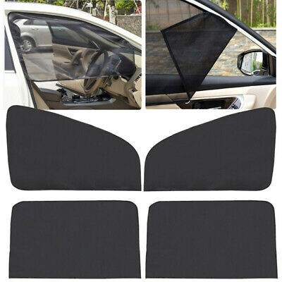 4 X Baby Car Window Shades Black Mesh Blinds Sun Stopper Visor Shield Cover Dog