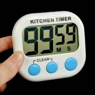 Digital Kitchen Timer Magnetic Cooking LCD Large Count Down Clear Loud Alarm US