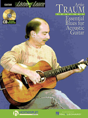 Happy Traum Teaches Blues Guitar Book and CD NEW 000841082