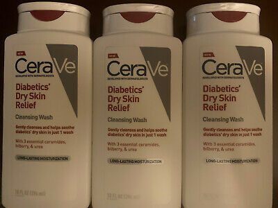 Cerave Diabetics Dry Skin Relief Cleansing Wash Body Wash New