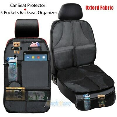 Car Seat Protector Thickest Padded Waterproof Back Seat Organizer Kick Mat Cover