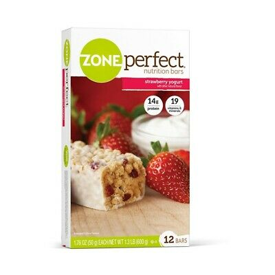 Zone Perfect - Nutrition Barres Fraise Yogourt - 12 X 52ml Barres