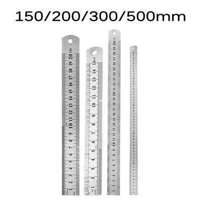 SY Stainless Steel Double Sided Metric Ruler Measuring Tool 30//50//60cm N9D1