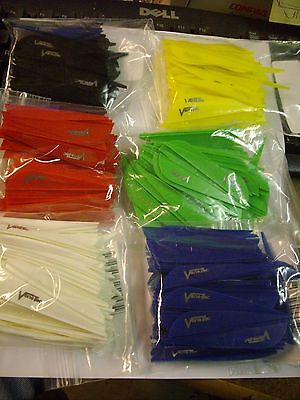 "2.3/"" 50 each Yellow Duravanes 3D arrow vanes"