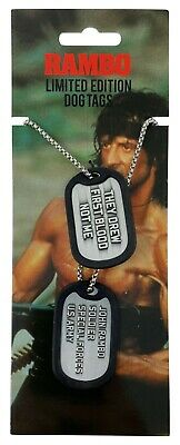 Collier plaques militaires Rambo officielles Rambo dog tags necklace